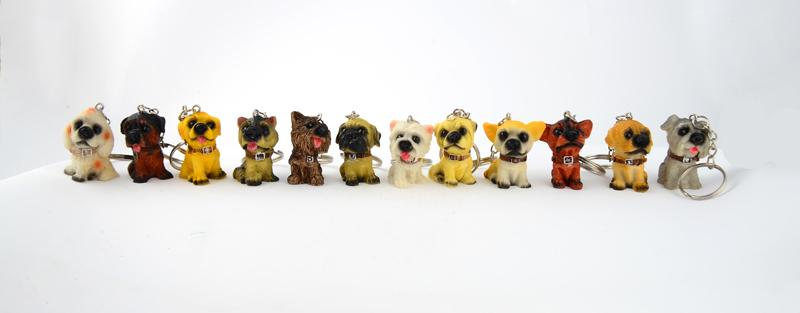 12pcs/lot Lovely Resin Animal Pet Dogs Key Ring Schnauzer Welsh Corgi Keychains Gift For Woman - SolaceConnect.com