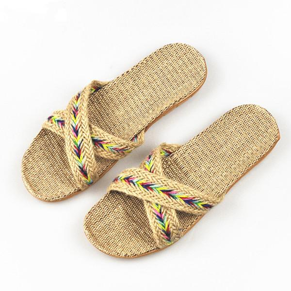 Men's Summer Cross Belt Non-Slip Breathable Slippers for Indoor and Beach - SolaceConnect.com