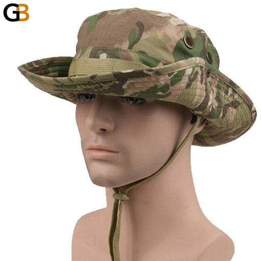 Nepalese American Tactical Airsoft Sniper Camouflage Bucket Boonie Hats - SolaceConnect.com