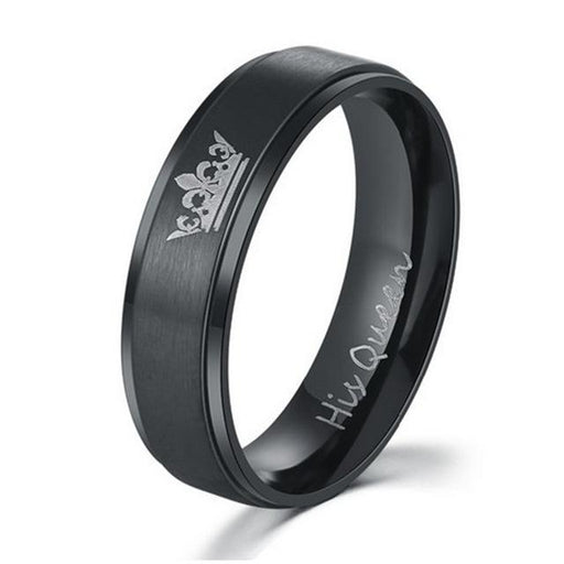 Her King and His Queen Fashion Stainless Steel Unisex Wedding Rings - SolaceConnect.com
