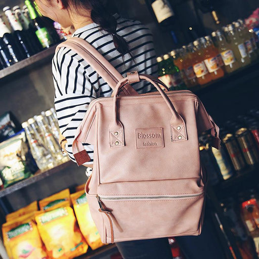 Korean Style Fashion Multifunction Women's Laptop Shoulder Backpack - SolaceConnect.com