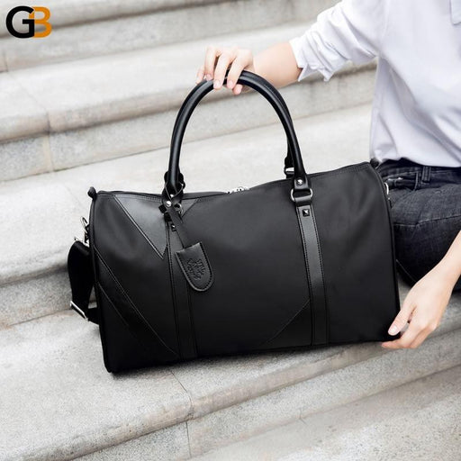 Men's Travel Fashion Nylon Foldable Large Capacity Luggage Bag for Trips - SolaceConnect.com