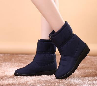 Women's Casual Waterproof Warm Cotton Winter Non-Slip Snow Boots - SolaceConnect.com