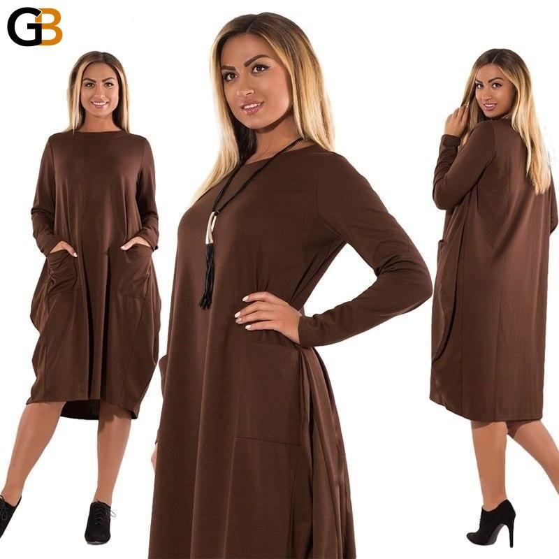 COCOEPPS 5XL 6XL Women Winter Dresses Fashion Plus Size women ...