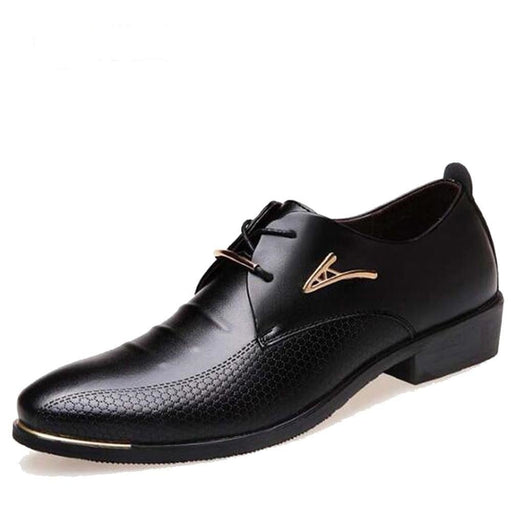 Formal Fashion Oxford Leather Wedding Shoes for Men with Pointed Toe - SolaceConnect.com