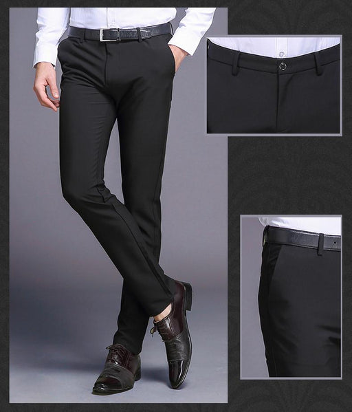Classic Business Fashion High Quality Cotton Men's Long Straight Pants - SolaceConnect.com