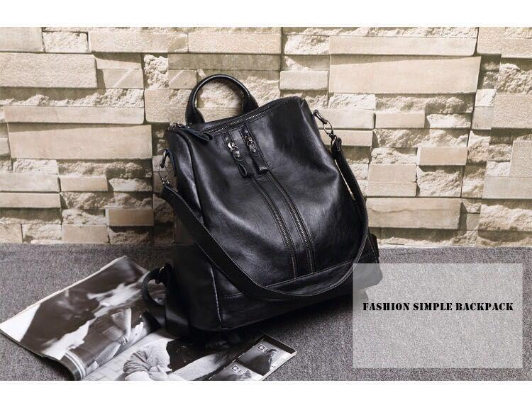 174ce626b8b6 ... Fashion Women Backpack High Quality Youth Leather Backpacks for Teenage  Girls Female School Shoulder - SolaceConnect ...
