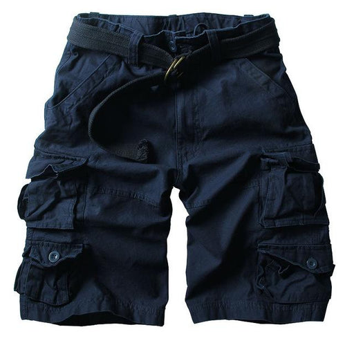 Multi-Pocket Camouflage Men's Casual Loose Knee-Length Shorts for Summer - SolaceConnect.com