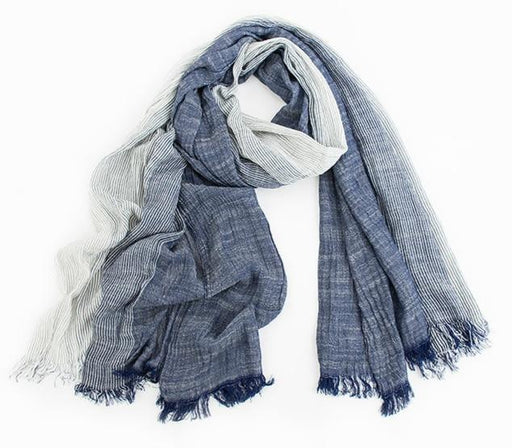 Brand Winter Scarf Men Warm Soft Tassel Bufandas Cachecol Gray Plaid Woven Wrinkled Cotton - SolaceConnect.com