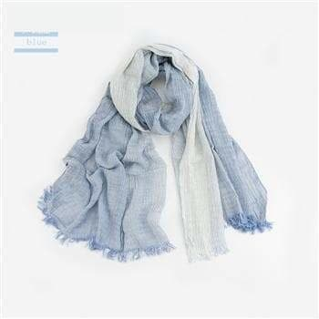 Warm Soft Winter Plaid Scarf for Men with Tassel in Woven Wrinkled Cotton - SolaceConnect.com