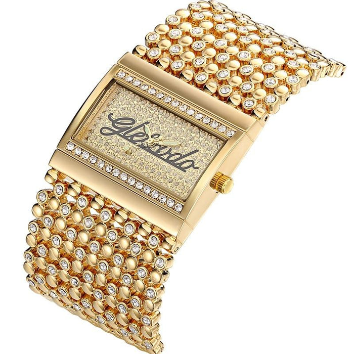 Casual Stainless Steel Simple Analog Quartz Gold Wrist Watch for Women - SolaceConnect.com