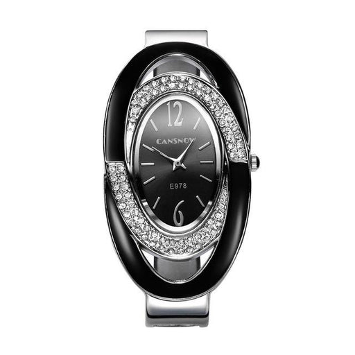Casual Style Luxury Full Steel Rhinestone Bracelet Watch for Women - SolaceConnect.com