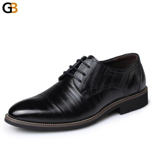 High Quality Genuine Leather Men's Lace-Up Bullock Business Brogues Shoes - SolaceConnect.com