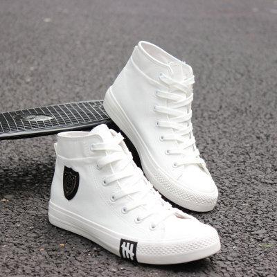 Men's Black High-Top Canvas Breathable Lace-Up Casual Espadrilles Shoes - SolaceConnect.com