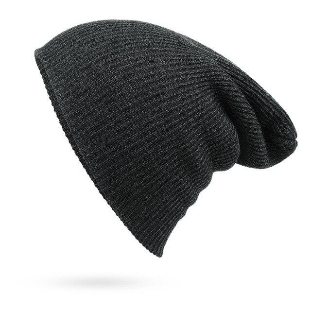 Trendy Oversize Winter Warm Knitted Slouchy Hat for Men and Women - SolaceConnect.com