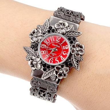 Vintage Flowers Full Steel Round Bracelet Model Quartz Watch for Women - SolaceConnect.com