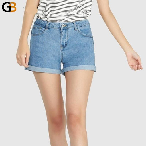 Mini shorts sexy ripped short jeans female summer dark blue hole hot shorts High waist denim - SolaceConnect.com