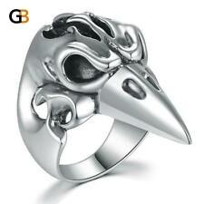 Men's Punk Eagle Jewelry Sterling Silver Big Animal Gothic Biker Ring - SolaceConnect.com