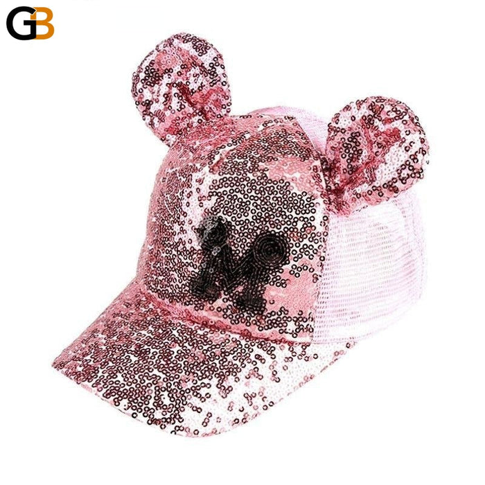 Unisex Hip Hop Spring Summer Funny Sequins Ears Snapback Baseball Cap - SolaceConnect.com