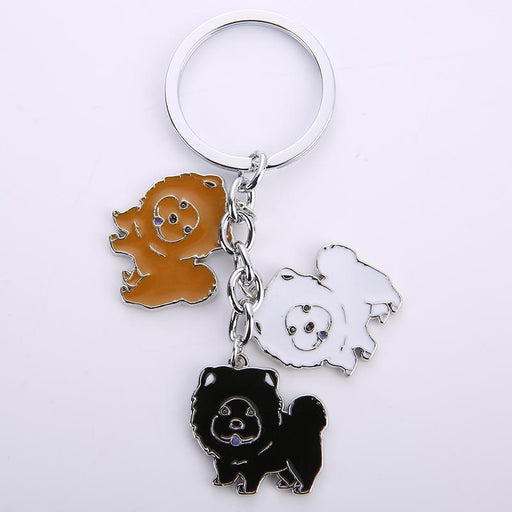 Classic Fashion Accessories for Men Chow Dog Metal Keychain - SolaceConnect.com
