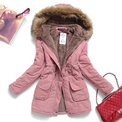 Fitaylor Winter Jacket Women Thick Warm Hooded Parka Mujer Cotton Padded Coat Long Paragraph Plus - SolaceConnect.com