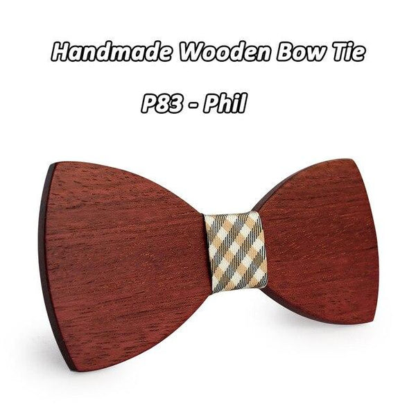 Handmade Fashion Natural Wooden Papillon Butterfly Design Bowties - SolaceConnect.com