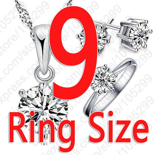925 Sterling Silver Bridal Jewelry Sets for Women with Cubic Zircon Crystal - SolaceConnect.com