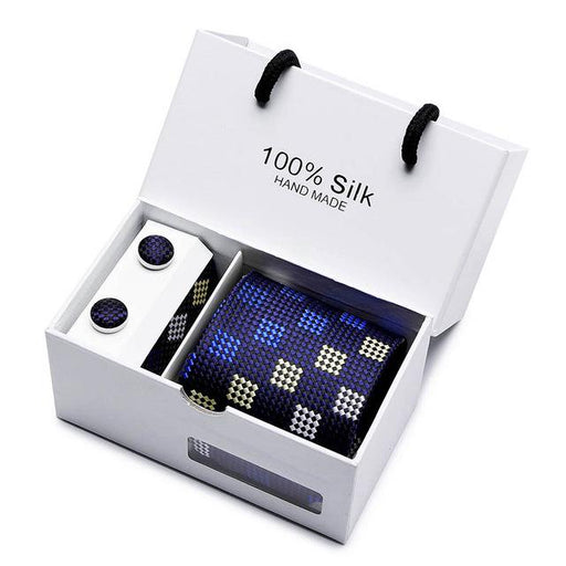 8cm men's ties gravatas dos homens tie set ties for men striped neckties gift box packing - SolaceConnect.com