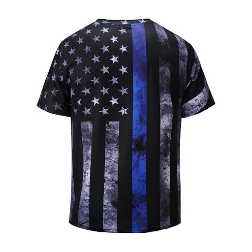 Casual USA National Flag 3D Print Summer V-neck T-Shirts for Men - SolaceConnect.com