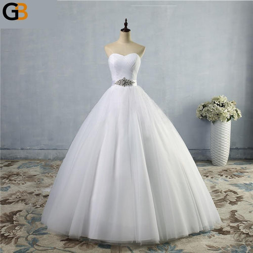 A Line Lace Sweetheart Off the shoulder Sleeveless White Ivory Bridal Wedding Dress Bride Gown - SolaceConnect.com