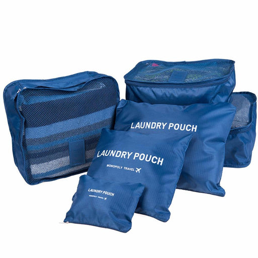 Durable 6 Pieces One Set Large Capacity Nylon Packing Cube Travel Bag - SolaceConnect.com