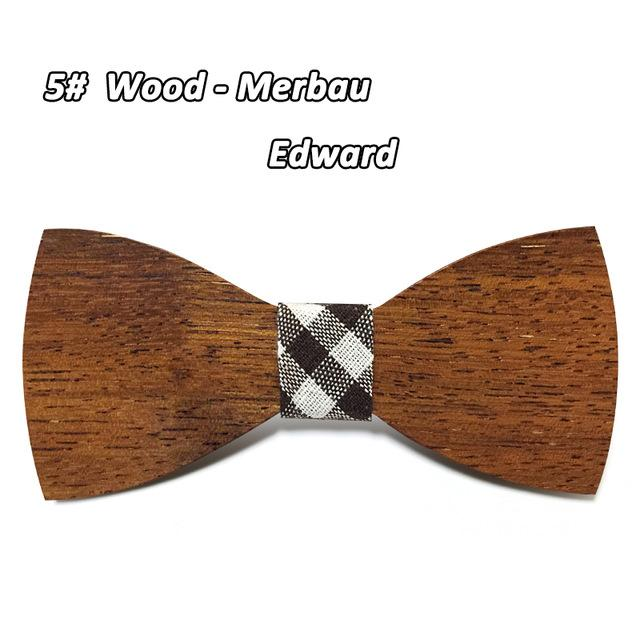 Fashion Unisex Wooden Butterfly Bowties Neckties Wedding Event Accessory - SolaceConnect.com