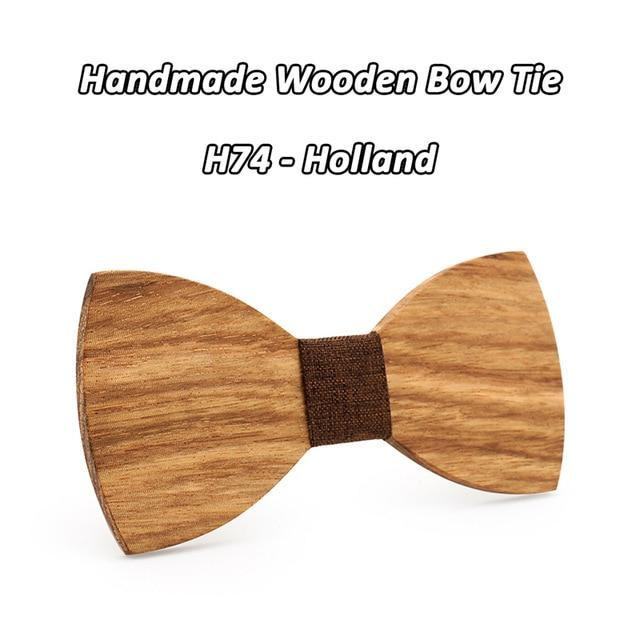 Great Fun Personality Butterfly Wooden Bowties Gift for Stylish Men - SolaceConnect.com