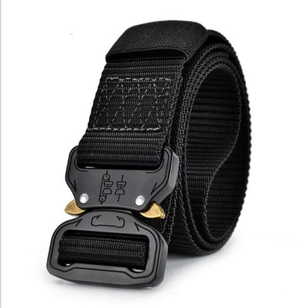 Nylon Canvas Metal Buckle Military Training and Tactical Belt for Men - SolaceConnect.com