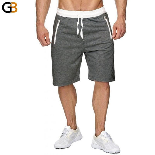 INCERUN Summer Casual Men Shorts Male Sweatpants Fitness Joggers Short Gyms With Zipper Pockets - SolaceConnect.com