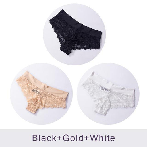 Ultra Soft Women's Sexy Lace Panties Thongs G Strings Seamless Underwear Women Panty Briefs Bikini - SolaceConnect.com