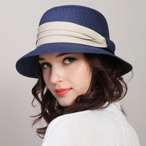 Female Casual Summer Travel Folding Straw Beach Sun Cap Arrival - SolaceConnect.com