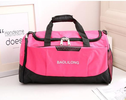 Men Women Professional Waterproof Large Sports Gym Bag with Shoes Pocket - SolaceConnect.com