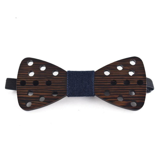 Novelty Fashion Dot Butterfly Handmade Wooden Gravata Bowties for Men - SolaceConnect.com