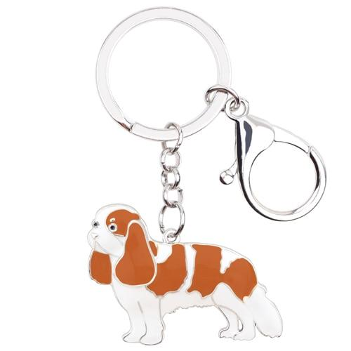 Enamel Metal Cavalier King Charles Spaniel Dog Key Chains Keychain Rings Anime Jewelry For Women - SolaceConnect.com