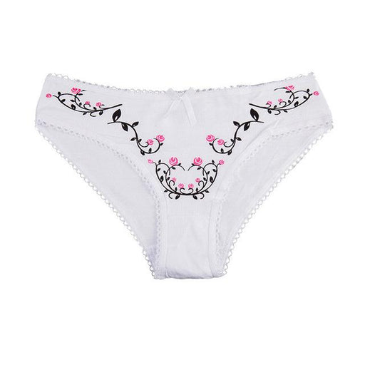 YOUREGINA Sexy G String Thong Ladies Underwear Women Seamless Panties Cotton Floral Print Woman - SolaceConnect.com