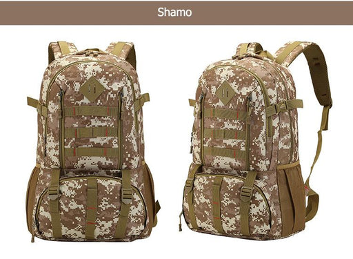 Bucbon Camo Tactical Backpack Military Army Mochila 50L Waterproof Hiking Hunting Backpack Tourist - SolaceConnect.com