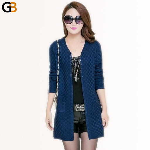 Summer Cardigan With Pockets Women's Clothing Soft and Comfortable Coat Knitted V-Neck Long - SolaceConnect.com