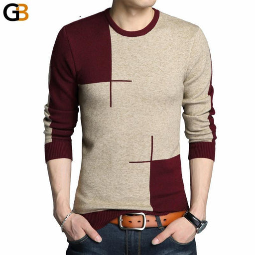 Men's Thick Warm Winter Clothing Knitted O-Neck Full Sleeve Wool Sweater - SolaceConnect.com