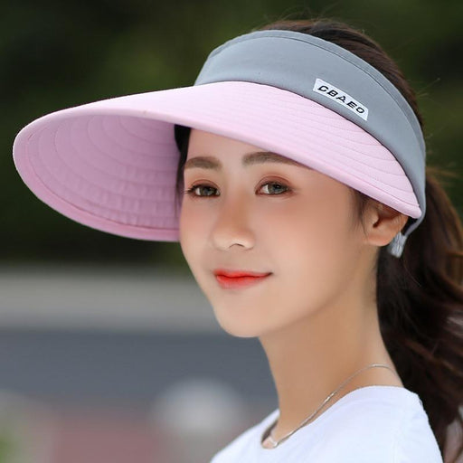 Summer Pearl Packable Visor with Wide Brim Beach Hat for Women - SolaceConnect.com