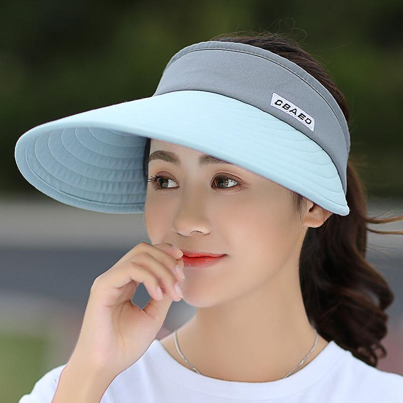 51a9f86c0 Women summer Sun Hats pearl packable sun visor hat with big heads wide brim  beach hat UV