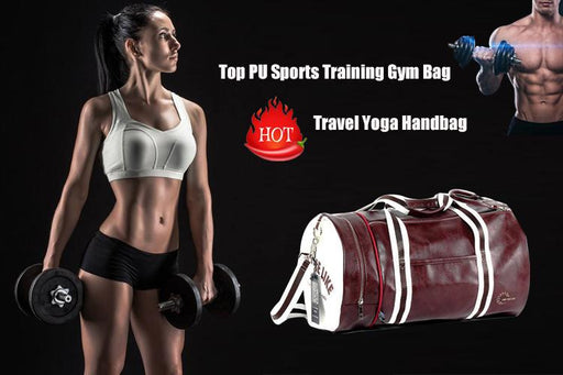 Synthetic Leather Multifunction Outdoor Sports Gym Bag with Shoes Pocket - SolaceConnect.com