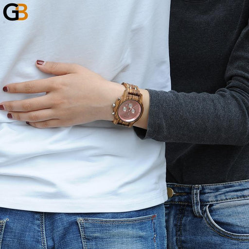 Luxury Watch with Feminino Date Display Stop Clock and Bracelet Clasp - SolaceConnect.com