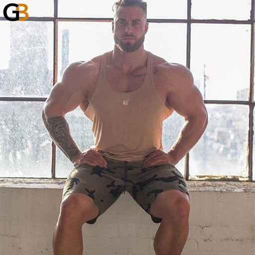 Men's Geometric Calf-Length Gym Workout Fitness Bodybuilding Summer Shorts - SolaceConnect.com