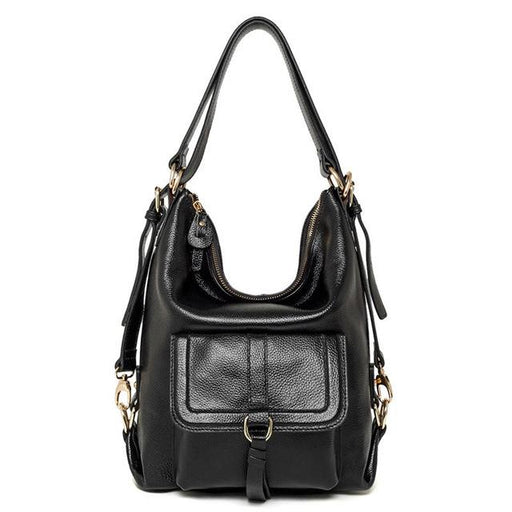 Women's Crossbody Leather Messenger Satchel Large Multifunction Handbag - SolaceConnect.com